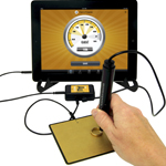 Auracle Gold Tester AGT-2 Testing Screen On An Ipad