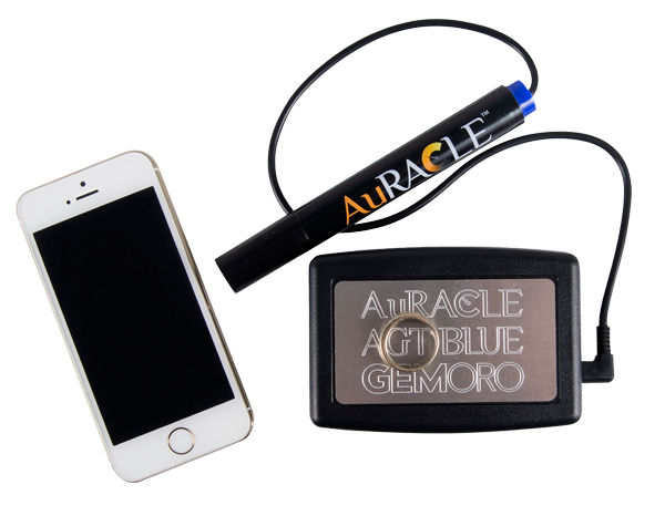 Auracle AGT-3 Gold Tester Calibrate Screen